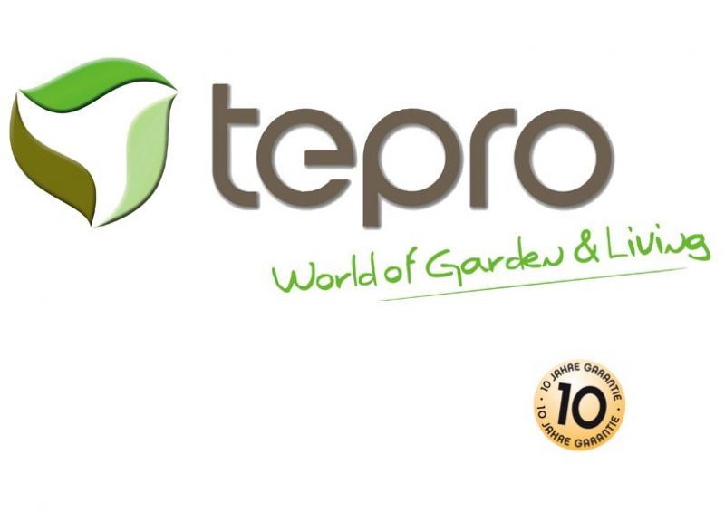 Tepro Kunststoff-Gerätehaus Gartenhaus Factor 6x6 - taupe-beige