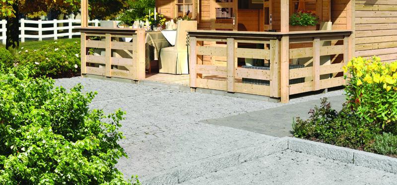 Karibu Terrasse für Pirion und Jütland -  180 cm tief - natur