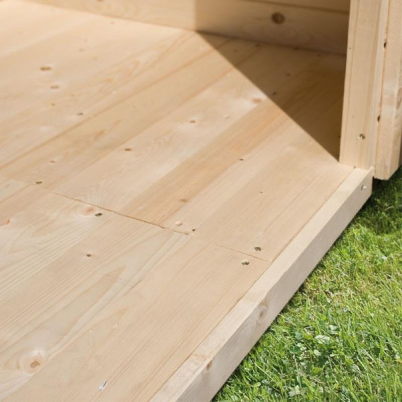 karibu gartenhaus pirion 5 satteldach 40 mm massiv natur. Black Bedroom Furniture Sets. Home Design Ideas