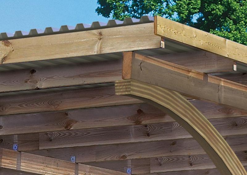 Karibu Holz Einzelcarport Eco 1 Variante C - kesseldruckimprägniert