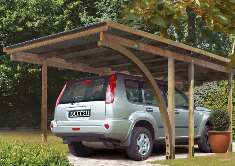 Karibu Einzelcarport Eco 2 Variante A - kesseldruckimprägniert