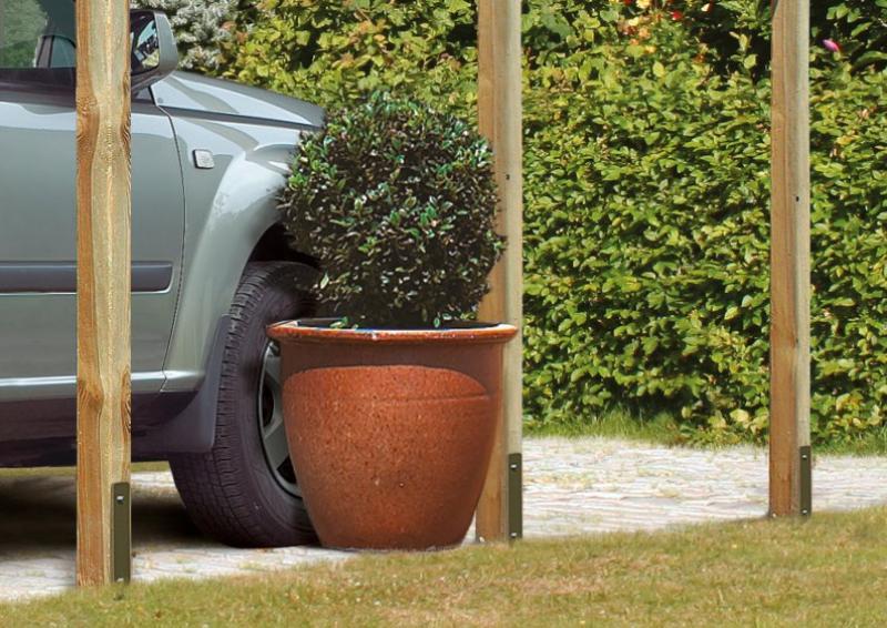 Karibu Holz Doppelcarport Eco 2 Variante C - kesseldruckimprägniert