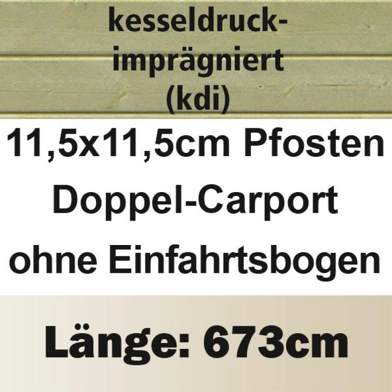 Karibu Doppelcarport Classic 2 Variante A - Stahl Dach