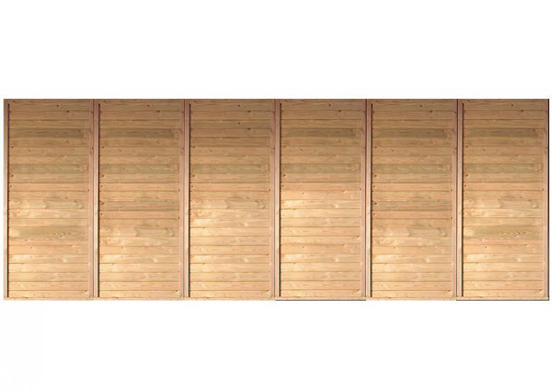 Karibu Rückwand für Holz Doppelcarport (540 x 200cm)
