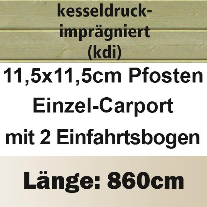 Karibu Einzelcarport Premium 3 Variante C inkl. zwei Einfahrtsbögen - Stahl Dach