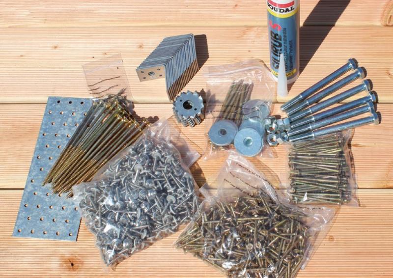 Karibu Beschlagbeutel Holz Einzelcarport Eco 1