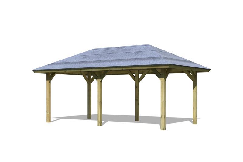 karibu holzpavillon bergen 2 4 eck pavillon classic kdi. Black Bedroom Furniture Sets. Home Design Ideas