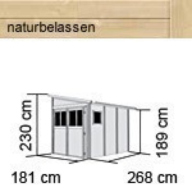 Karibu Gartenhaus Wandlitz 3 Pultdach 19 Mm System Natur