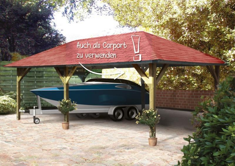 Karibu Holzpavillon Holm 2 4-Eck-Pavillon Premium - kdi