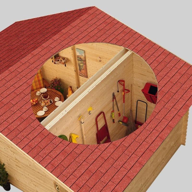 woodfeeling gartenhaus radur 0 satteldach 28 mm blockbohlenhaus mittelwandhaus natur. Black Bedroom Furniture Sets. Home Design Ideas