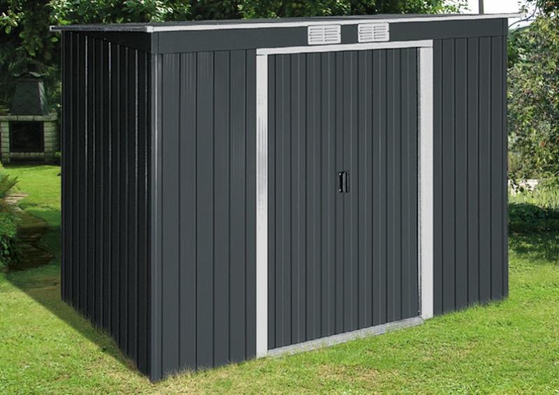 tepro ger tehaus metall pent roof 6x4 gr n. Black Bedroom Furniture Sets. Home Design Ideas