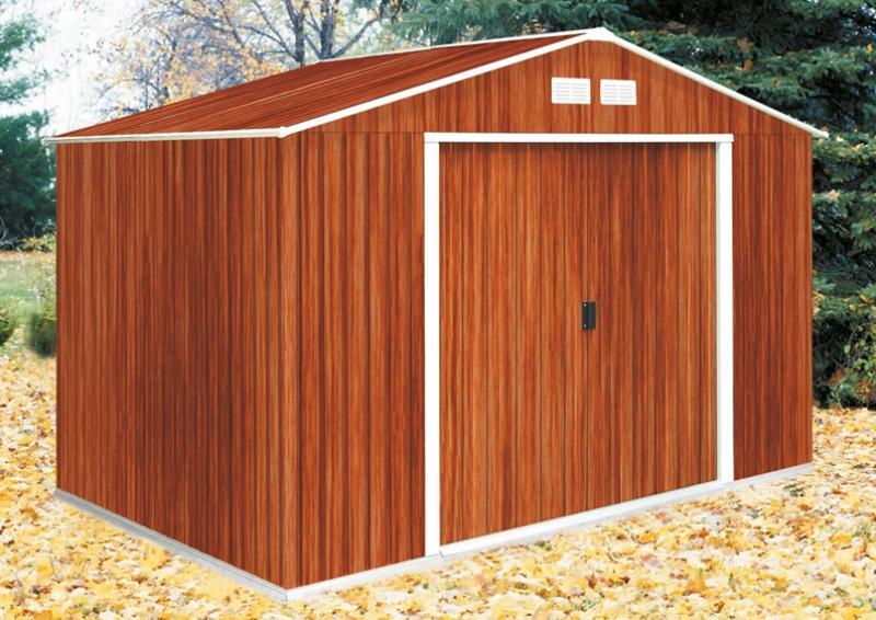 Tepro Gerätehaus Metall - Colossus 10x8 - Holzoptik
