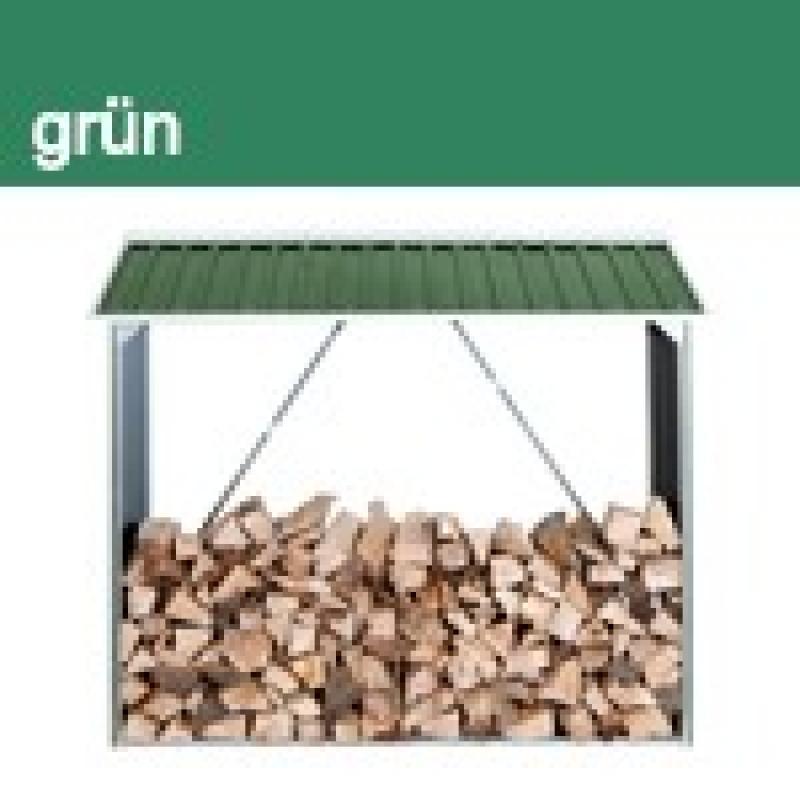 Tepro Metall Kaminholzregal Wood Shed - Grün