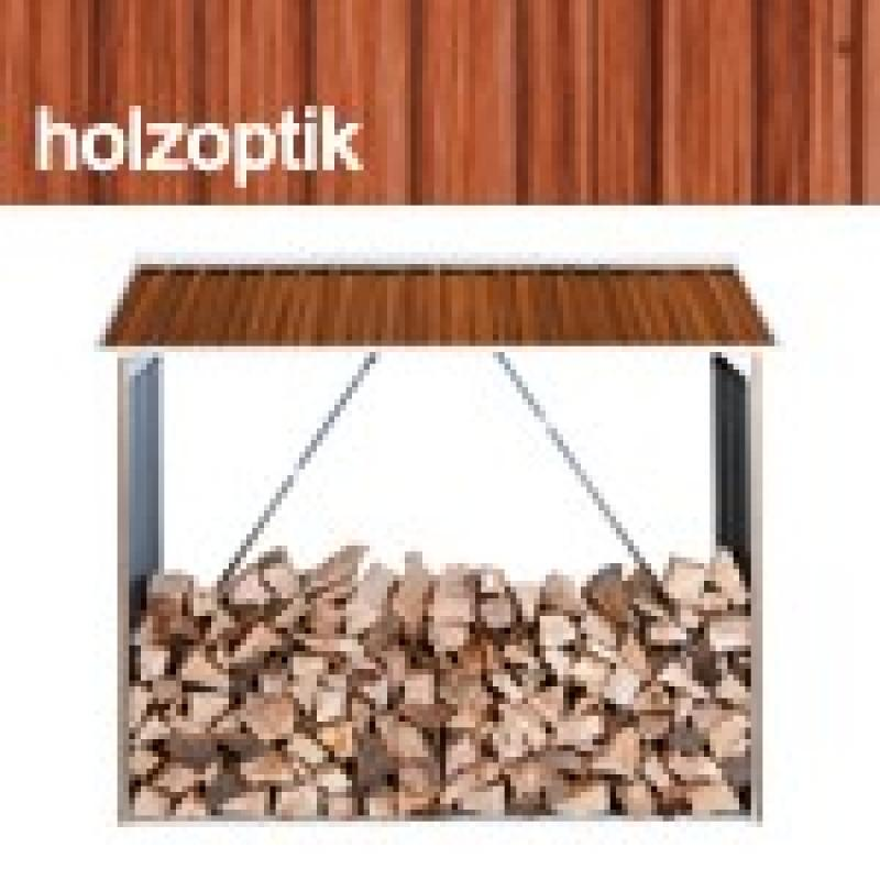 Tepro metall kaminholzregal wood shed holzoptik for Pool holzoptik metall