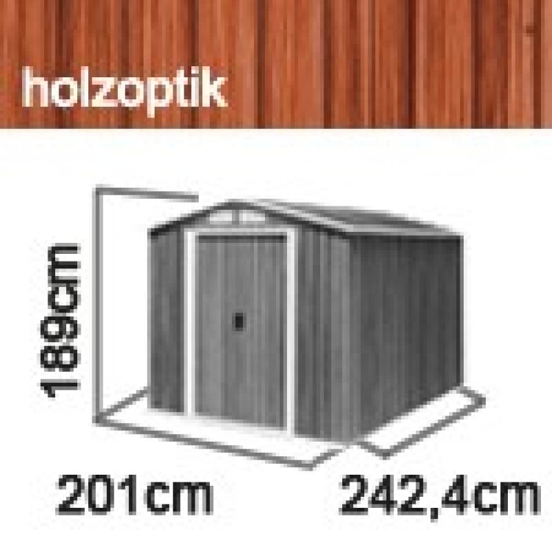 Tepro Gerätehaus Metall - Riverton 6x8 - Holzoptik