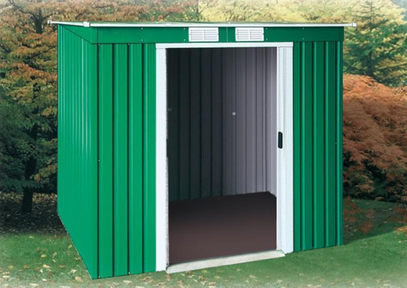 tepro ger tehaus metall pent roof 6x4 anthrazit. Black Bedroom Furniture Sets. Home Design Ideas
