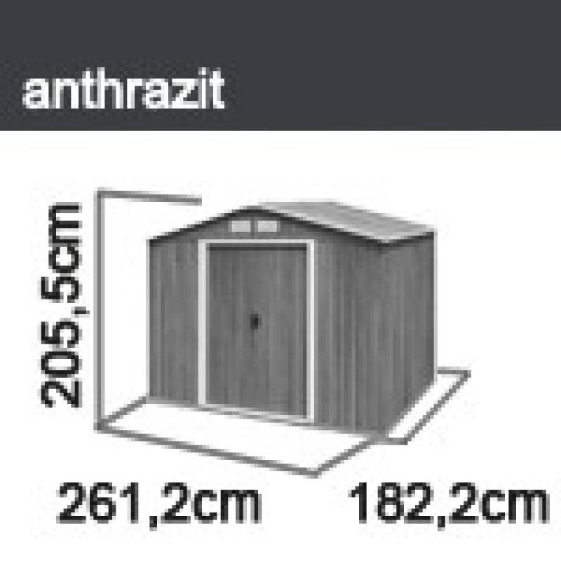 tepro ger tehaus metall titan 8x6 anthrazit. Black Bedroom Furniture Sets. Home Design Ideas