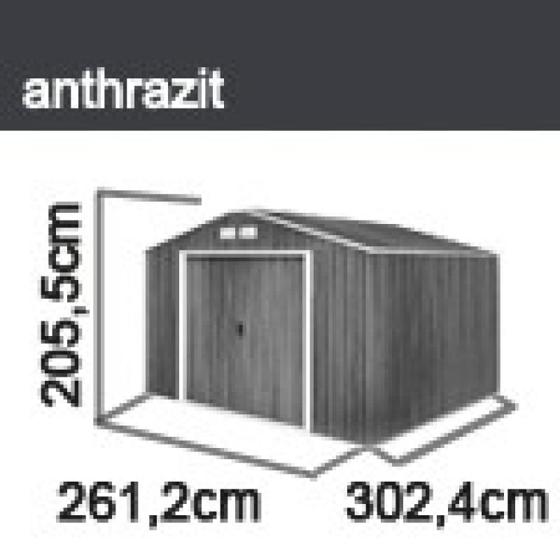 Tepro Gerätehaus Metall - Titan 8x10 - Anthrazit
