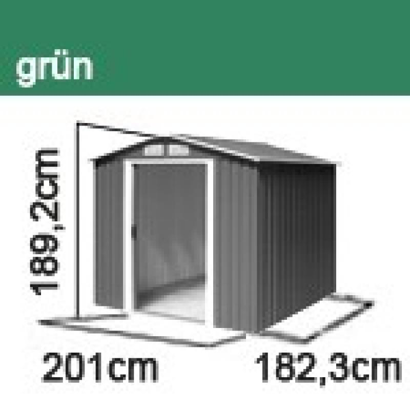 Tepro Gerätehaus Metall - Riverton 6x6 - Grün