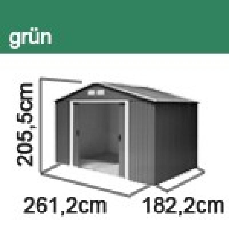 Tepro Gerätehaus Metall - Titan 8x6 - Grün