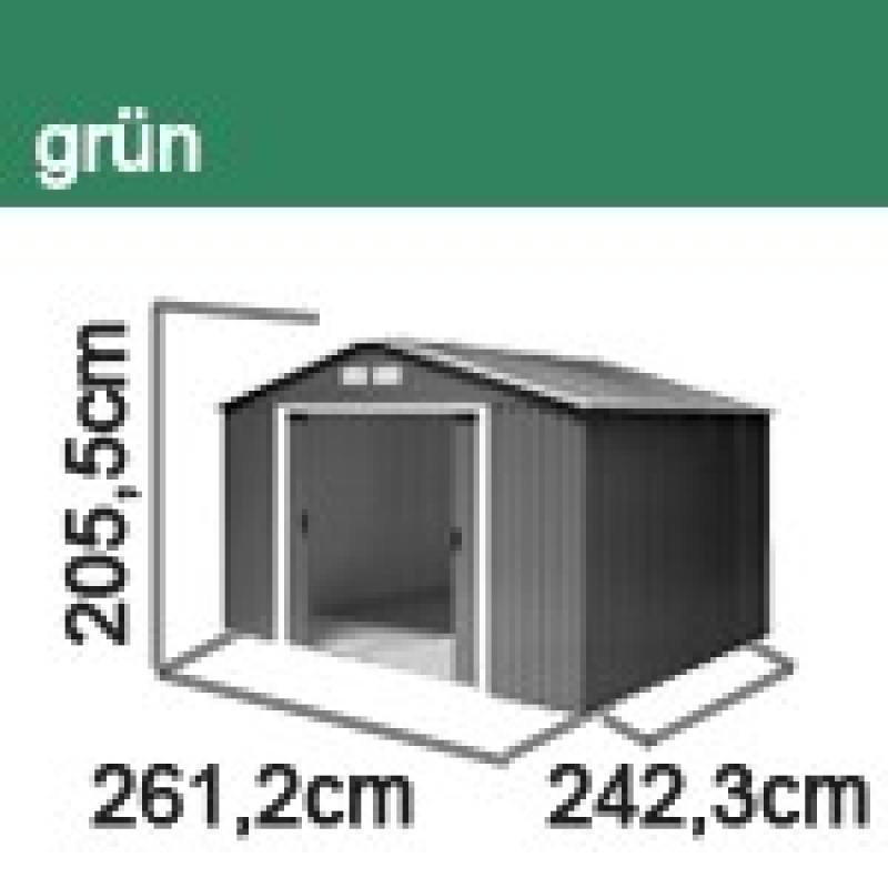 Tepro Gerätehaus Metall - Titan 8x8 - Grün