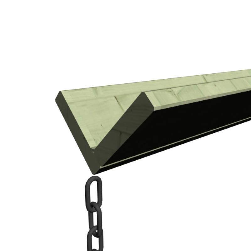 karibu holz dachrinnen set 1 inkl tropfkette und verbindungsmaterial kesseldruckimpr gniert. Black Bedroom Furniture Sets. Home Design Ideas