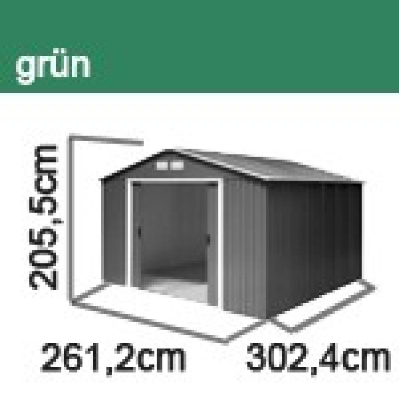 Tepro Gerätehaus Metall - Titan 8x10 - Grün