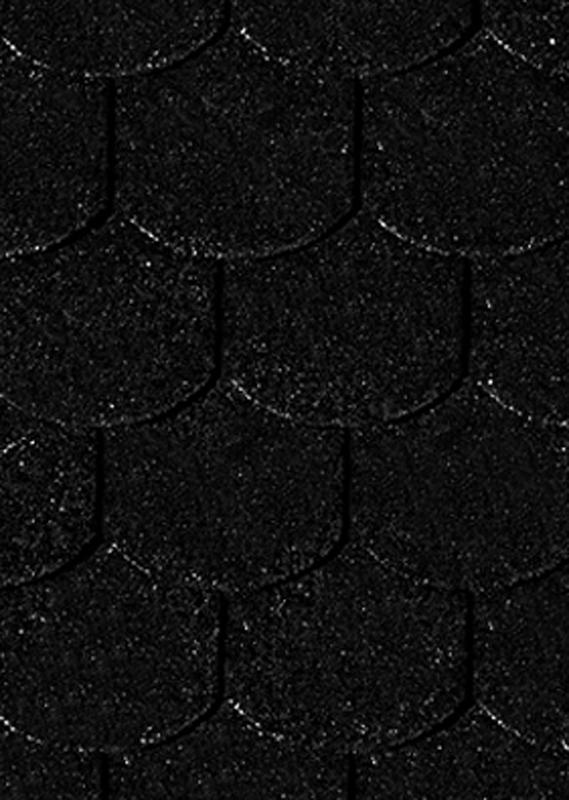Karibu Dachschindeln Biberschwanz - Schwarz