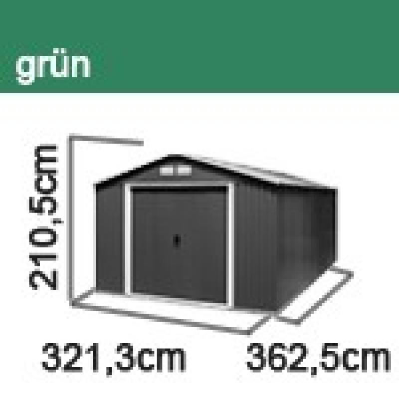 Tepro Gerätehaus Metall - Colossus 10x12 - Grün