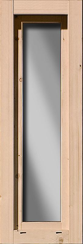 Karibu Gartenhausfenster Dreh-/Kipptechnik länglich für 28 mm Wandstärke - natur