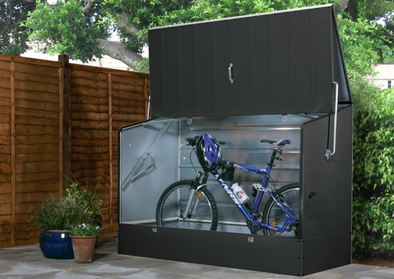 Tepro Metall Fahrradbox 196x89x133cm - Anthrazit/Grau