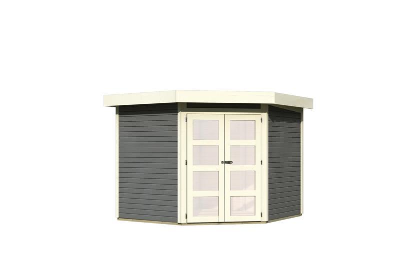 karibu gartenhaus goldendorf 5 flachdach 19 mm system. Black Bedroom Furniture Sets. Home Design Ideas