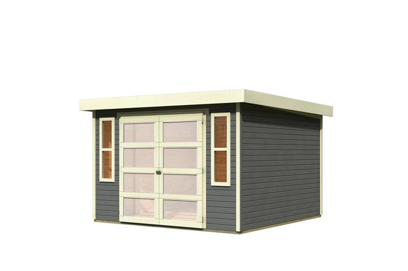 karibu gartenhaus m hlendorf 5 flachdach 19 mm system. Black Bedroom Furniture Sets. Home Design Ideas