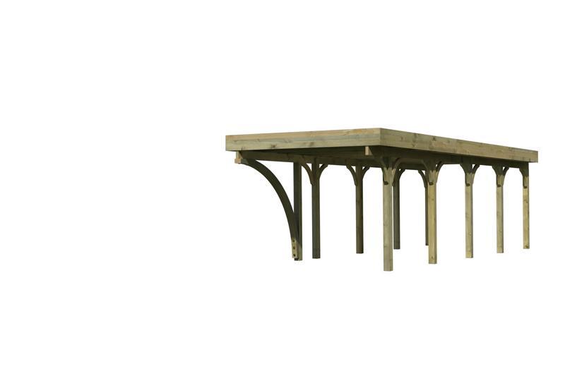 Karibu Einzelcarport Premium 3 Variante B inkl. einem Einfahrtsbogen - PVC Dach