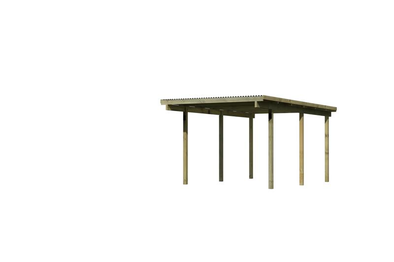 Karibu Holz Einzelcarport Eco 1 Variante A - kesseldruckimprägniert