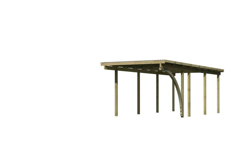 Karibu Holz Einzelcarport Eco 2 Variante B - kesseldruckimprägniert