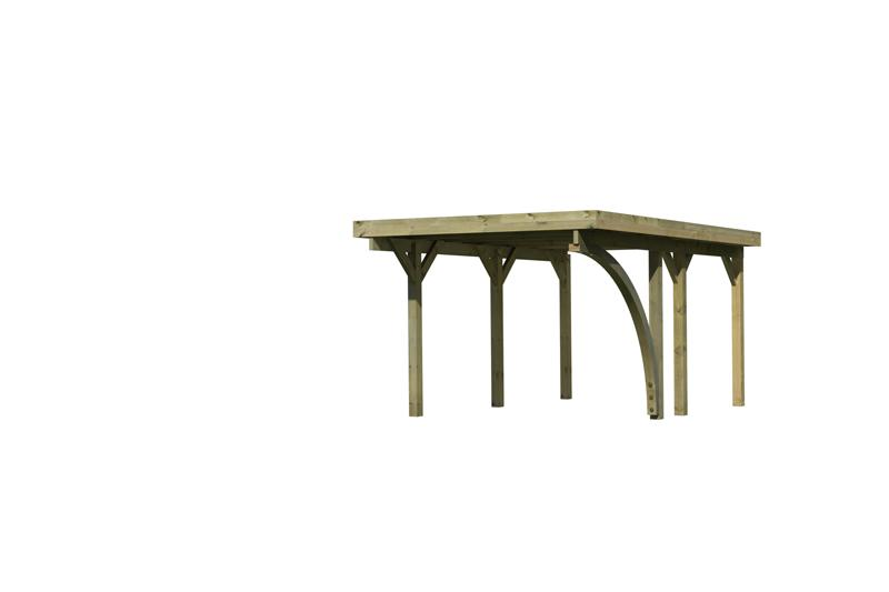 Karibu Einzelcarport Classic 1 Variante B inkl. einem Einfahrtsbogen - PVC Dach