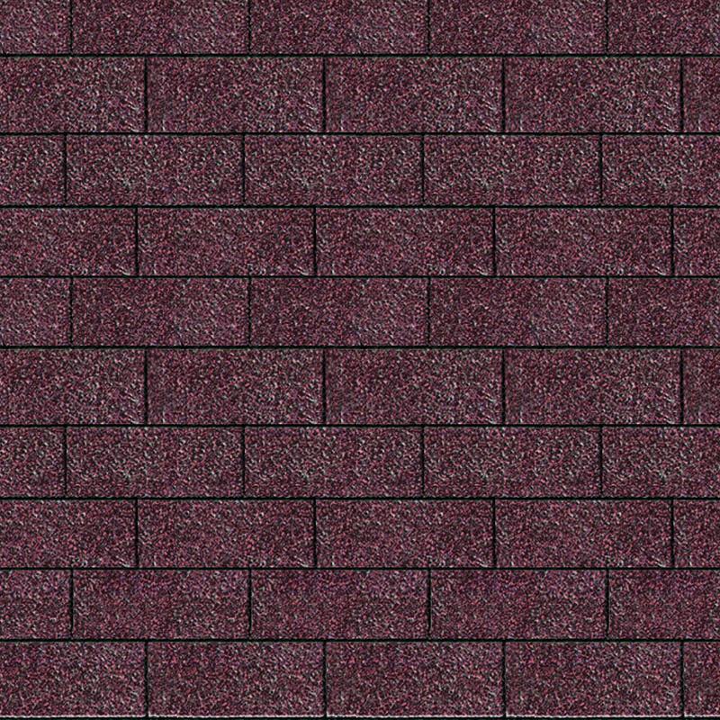 Karibu Dachschindeln Rechteck - Dunkelrot