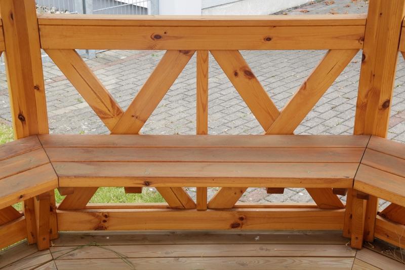 Wolff Finnhaus GartenHolz Gartenpavillon aus Holz Kreta 8: Satz Bänke
