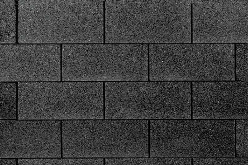 Wolff Finnhaus Holz-Gartenhaus Dachschindeln -  Rechteck schwarz