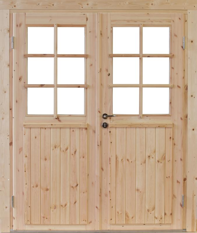 Wolff Finnhaus Holz-Gartenhaus Doppel-Tür -  Hero 70 Iso