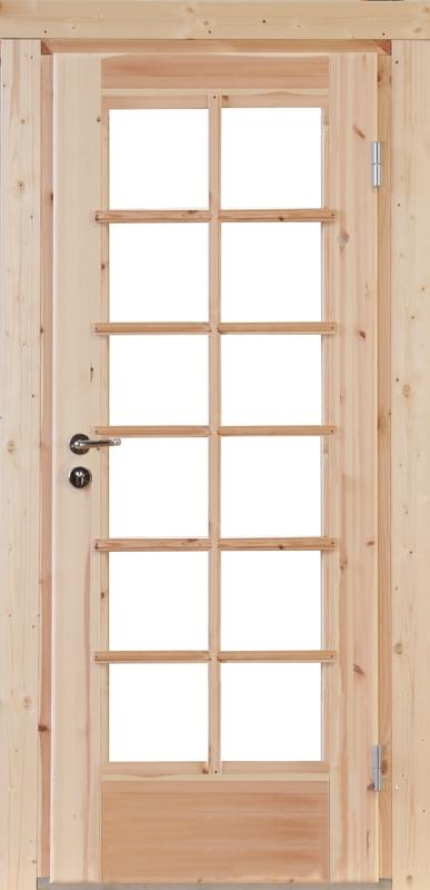Wolff-Finnhaus Holz-Gartenhaus-Einzel-Tür Nils XL (extra hohe Türe) 44 Iso