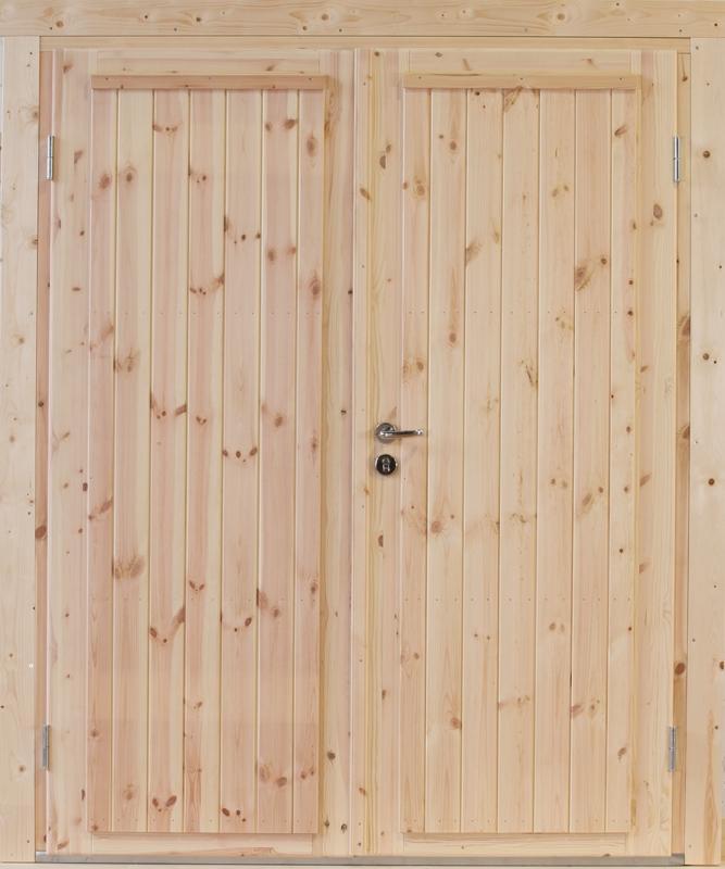 Wolff Finnhaus Holz-Gartenhaus Doppel-Tür -  Knut 44