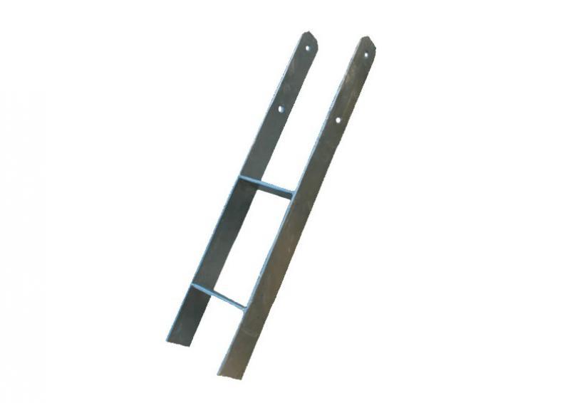 Karibu H-Pfostenanker für 9 x 9 cm Pfosten - verzinkter Stahl