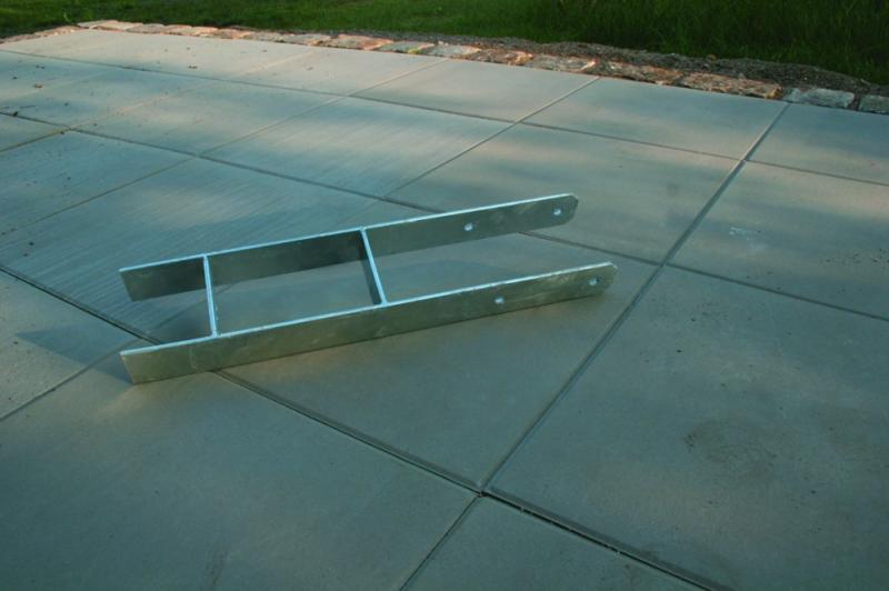 Karibu H-Pfostenanker 6er Set für 12 x 12 cm Pfosten - verzinkter Stahl