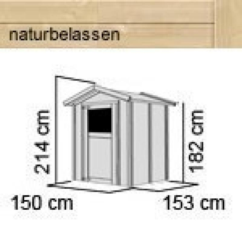 Karibu Gartenhaus Relin 2 - 14 mm Gerätehaus in Systembauweise - naturbelassen