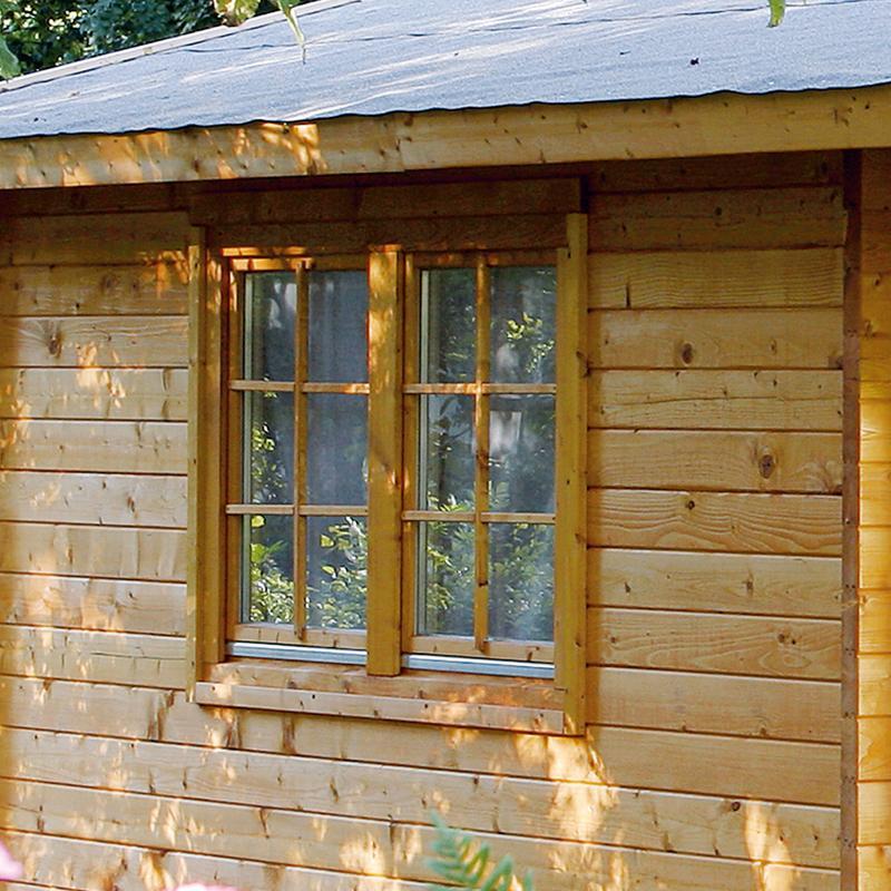 Wolff Finnhaus Holz-Gartenhaus Caro 58 mm C- 2-Raum-Holz-Gartenhaus - Klassik
