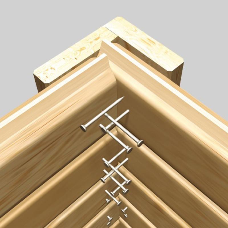 Karibu Holz-Gartenhaus Dahme 3 - 14 mm Gerätehaus in Systembauweise - naturbelassen