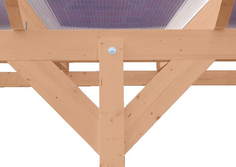 TerrassenUberdachung Holz Douglasie ~ Karibu Holz Terrassenüberdachung Modell 1 Premium  Größe A (250 x