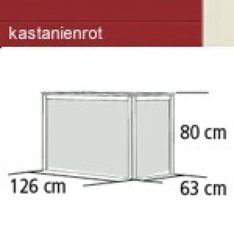 Karibu Hochbeet 1 (126 x 63 x 80 cm) - kastanienrot